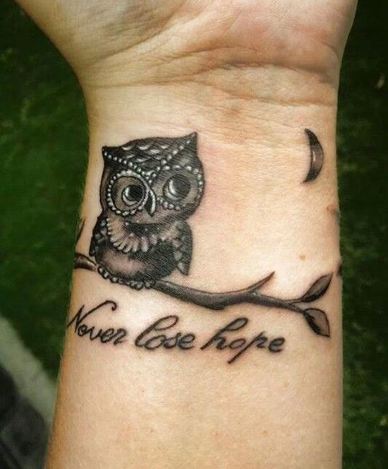 never lose hope owl tattoo