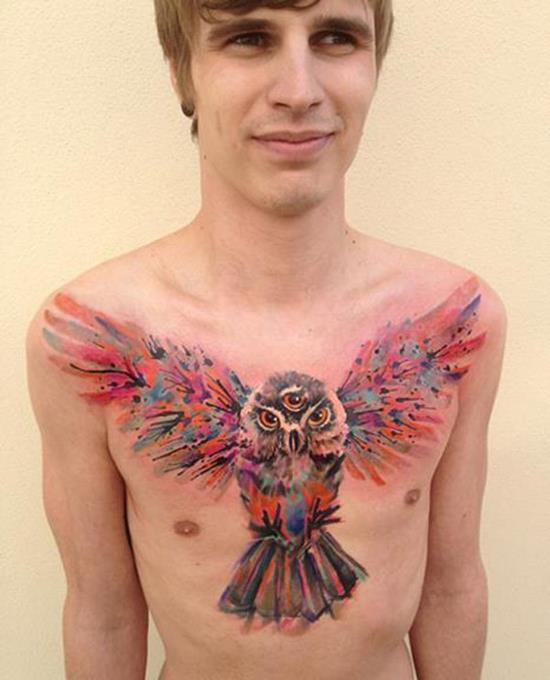 23-Watercolor-Owl-Tattoo1