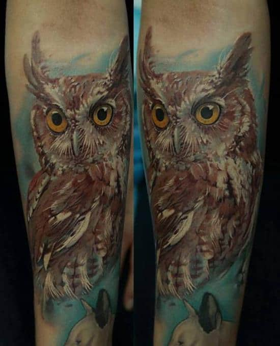 double owl tattoo