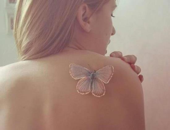 29-White-ink-butterfly-tattoo-on-back