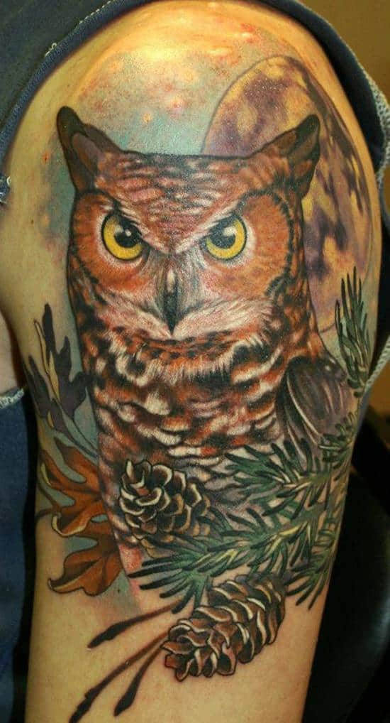 moonlight owl tattoo