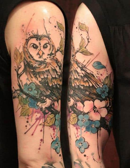 34-Watercolor-Owl-Tattoo1