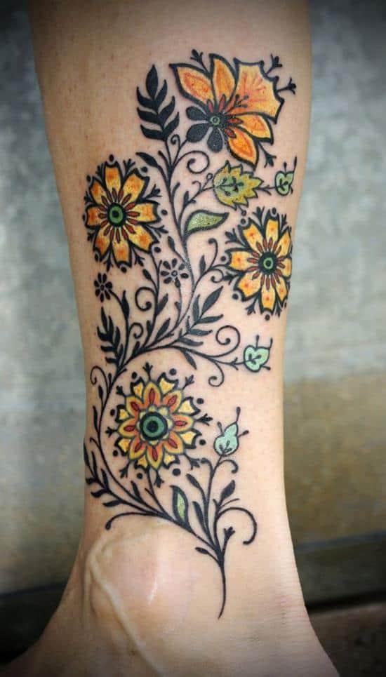 39-flower-tattoo-on-leg