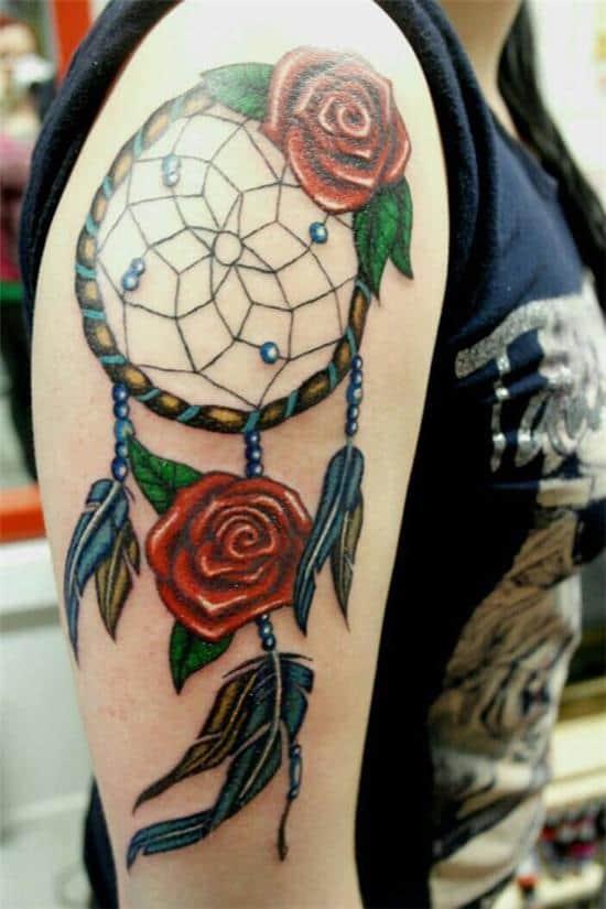 dreamcatcher sleeve tattoo idea