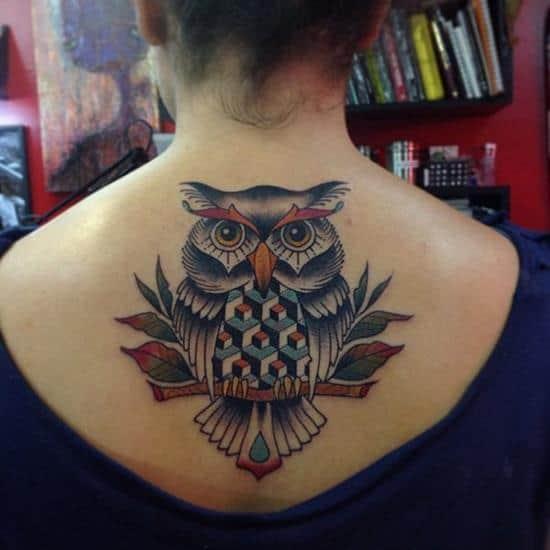 42-Owl-Tattoo-on-Back1