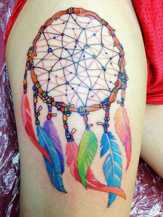 42-colorful-dreamcatcher-tattoo