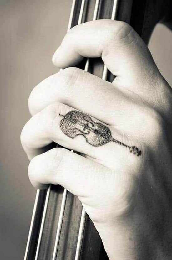 46-Melody-of-the-Violin-Finger-Tattoo