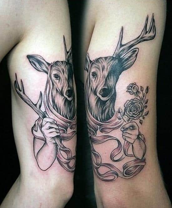 53-Deer-matching-tattoos