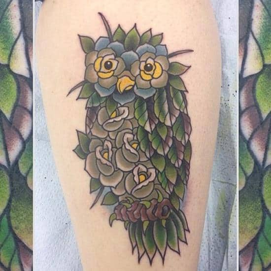 garden owl tattoo