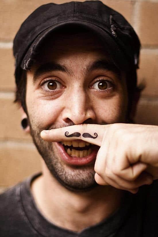 7-Finger-moustache-tattoo
