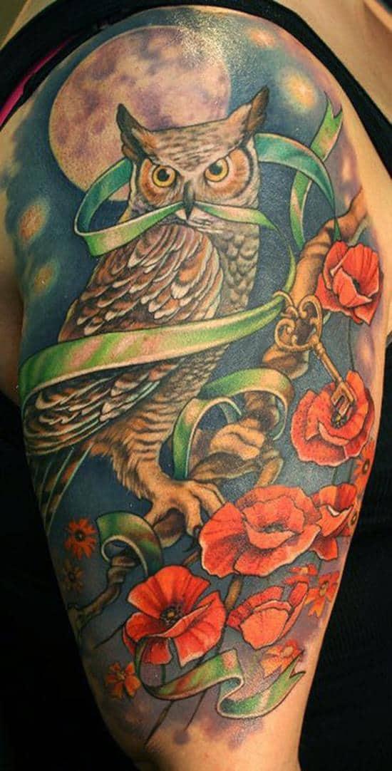 Melissas owl tattoo