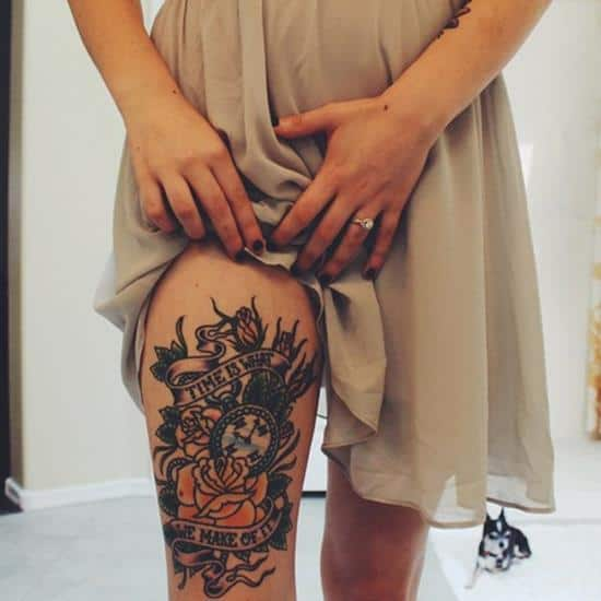 Tattoo Leg Woman Quotes: 150 Sexiest Leg Tattoos For Men-Women (April 2018