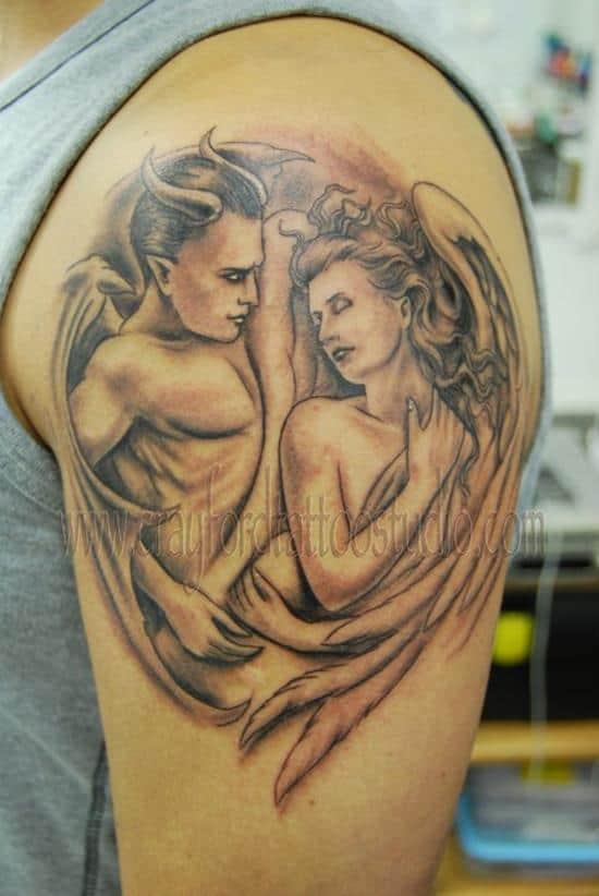 Devil-and-Angel-Tattoo