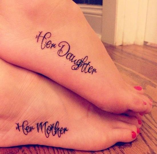 Mother-Daughter-Foot-Tattoos