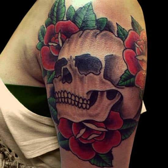 Roses-And-Skulls-Tattoo-Designs-Women