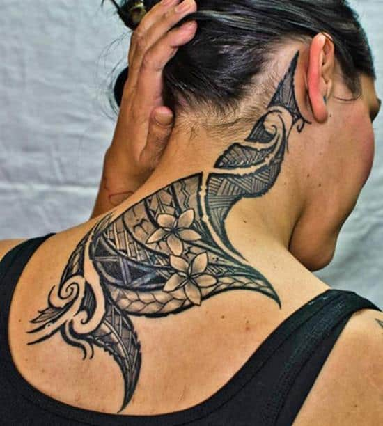 Tribal-Flowers-Tattoos-for-Women