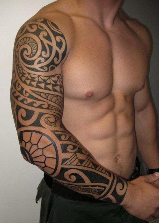 Tribal-sleeve-tattoo-for-men