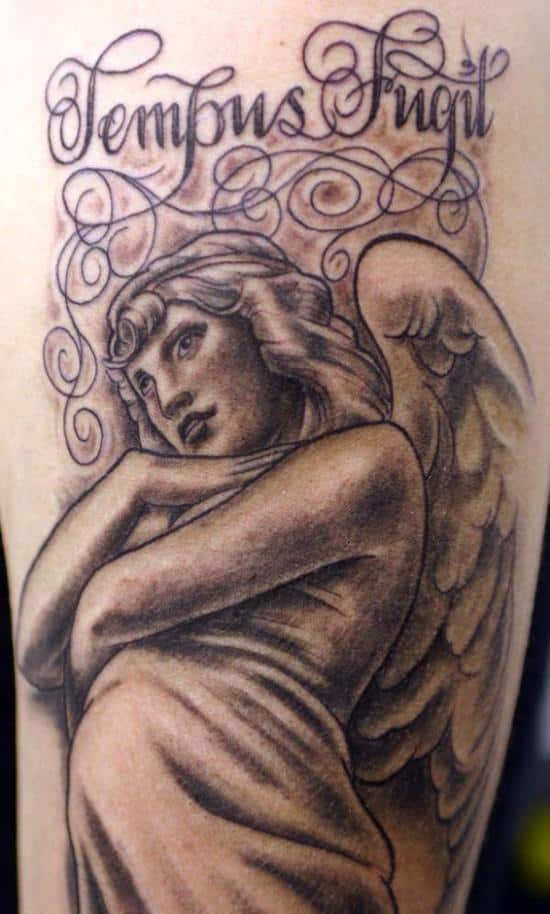 angel-tattoo-tempus-fugit