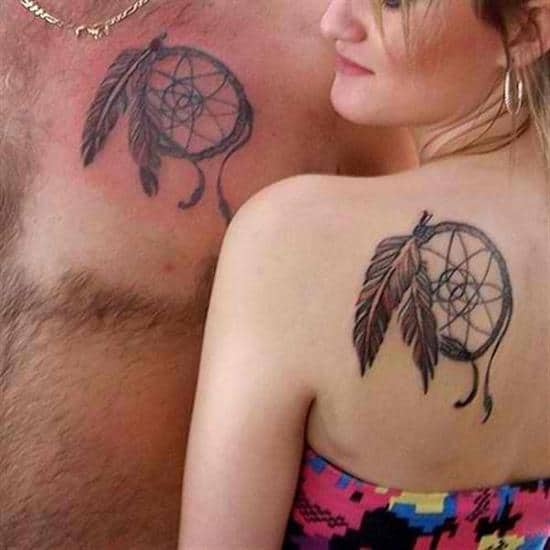 couples-tattoos-dream-catcher