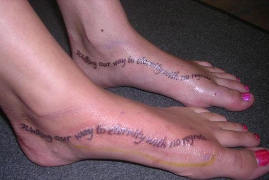 couples-tattoos-walking-our-way-to-eternity-with-no-regrets