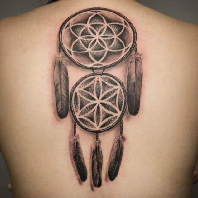 Dotwork Dreamcatcher Tattoo