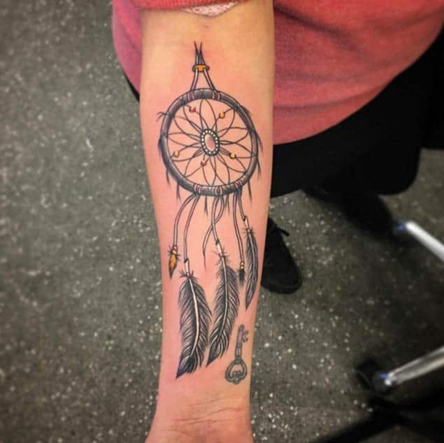 Best Forearm Dreamcatcher Tattoo