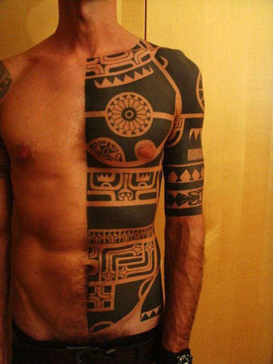 half-body-tribal-tattoo