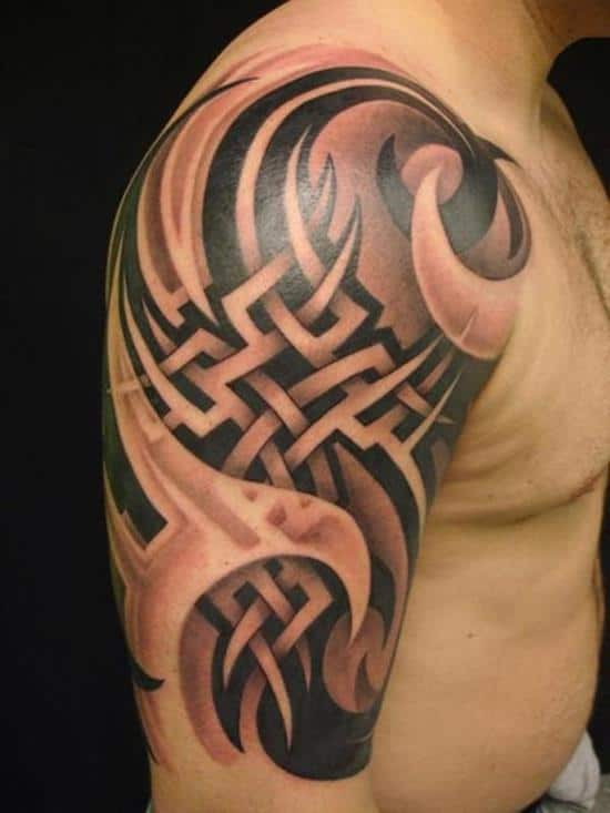 half-sleeve-tribal-tattoo-for-men