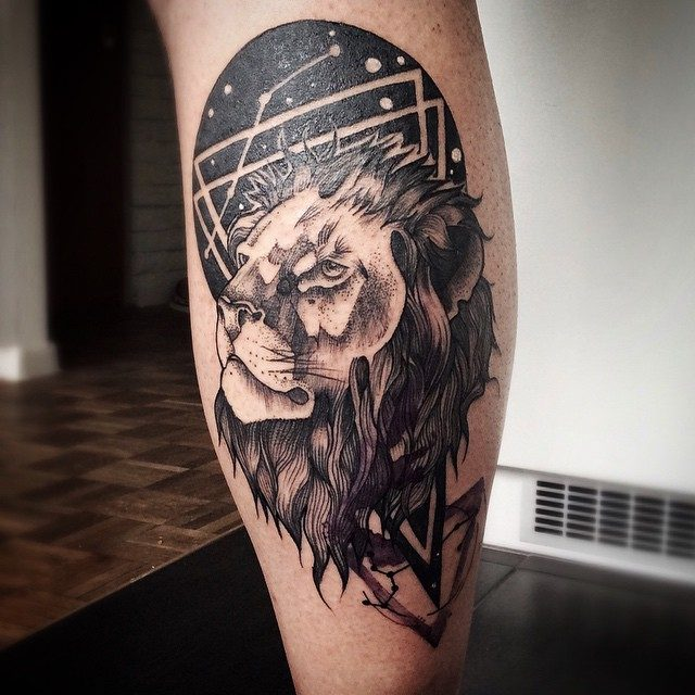 94f5c612508b0 ... to come out well, so that the features of the lion are accentuated to  the best. Also you can check out most popular dreamcatcher tattoos of all  time.