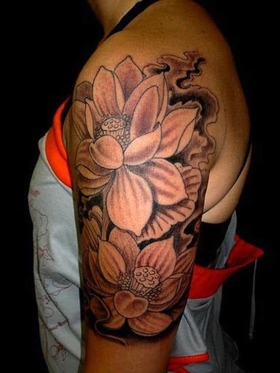 lotus-flower-tattoo-blackngrey