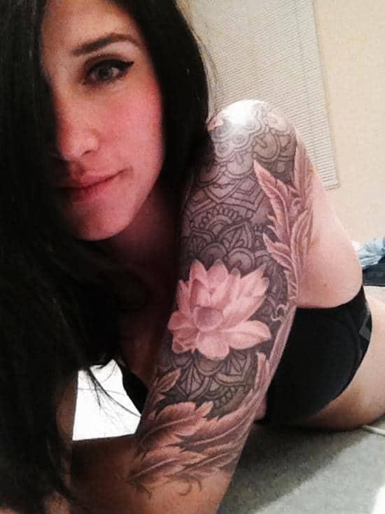 lotus-flower-tattoo-half-sleeve