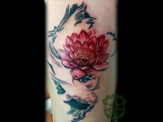 lotus-flower-tattoo-koi2