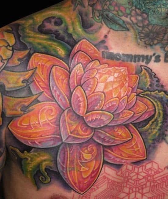 lotus-flower-tattoo-orange