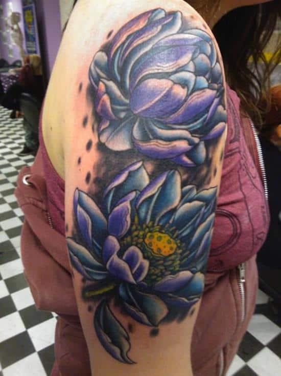 100 Elegant Lotus Flower Tattoos And Meanings - Part 4