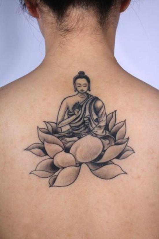 Japanese Lotus Flower Tattoo Design
