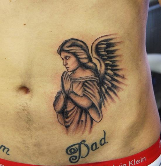praying-angel-tattoo
