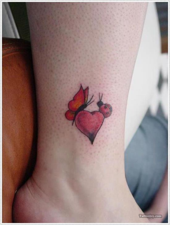 red-butterfly-heart-bug-tattoo-on-ankle