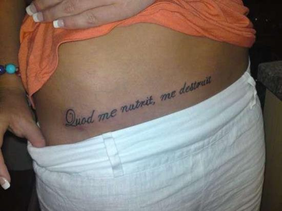 tattoo-quotes-What-nourishes-me-also-destroys-me