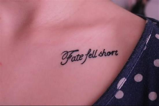 200 short tattoo quotes for men women 2017 collection part 5 tattoo quotes fate fell short urmus Image collections