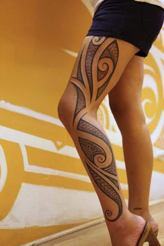 tattoo-tribal-leg