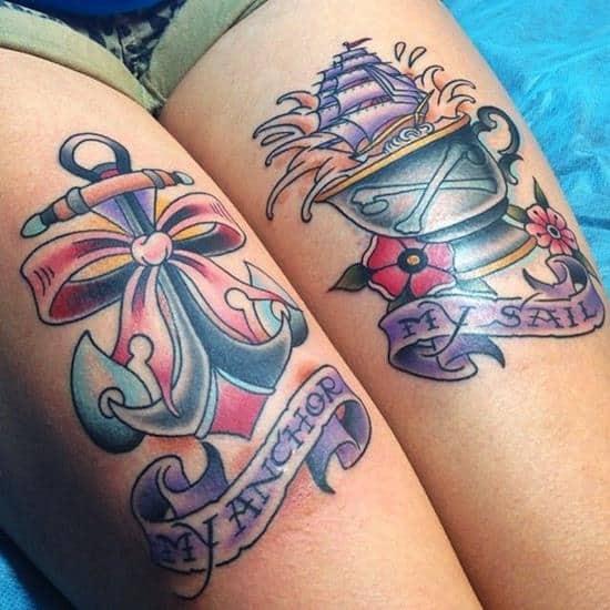 thigh-tattoo-anchor-sail