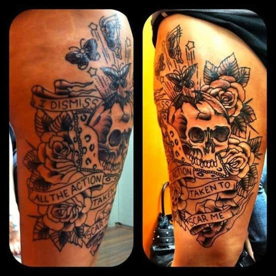 thigh-tattoo-skull-quotes