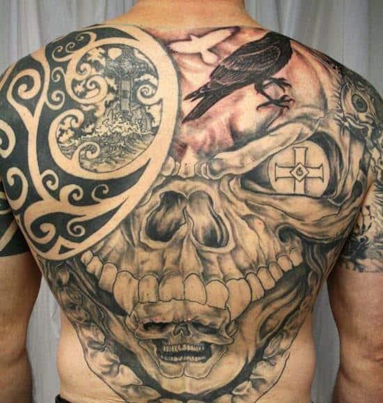 tribal-skull-tattoo