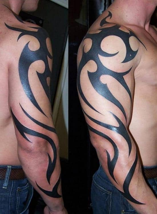 tribal-sleeve-tattoo