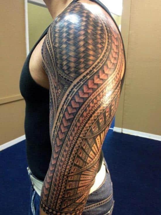 tribal-tattoo-sleeve-tattoo