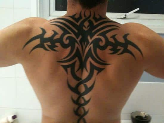 tribal-tattoos-at-back-shoulder