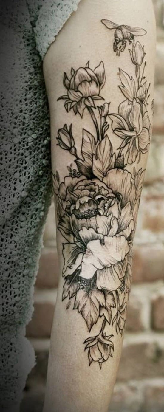 1-flowers-arm-tattoos