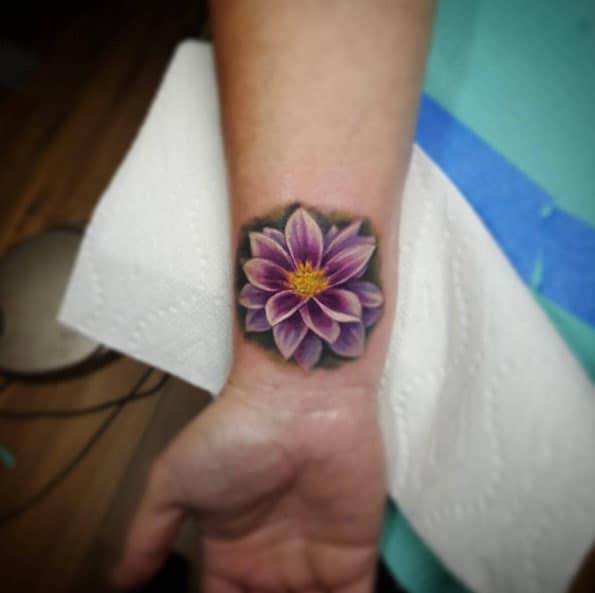 Floral Wrist Tattoo by Char Mcgaughy