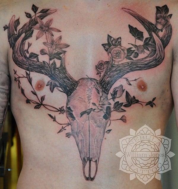 10-Stag-Skull-Tattoo