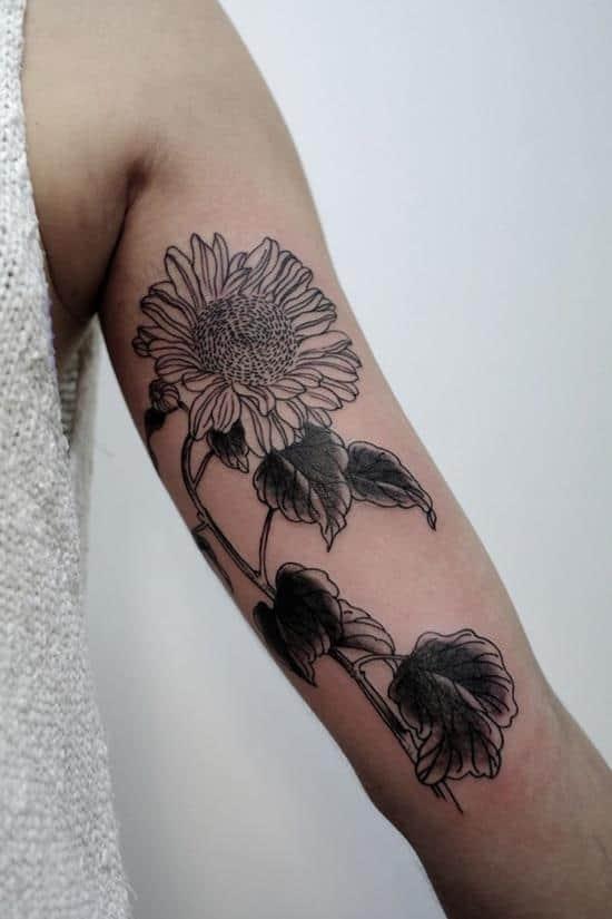 10-sunflower-tattoo